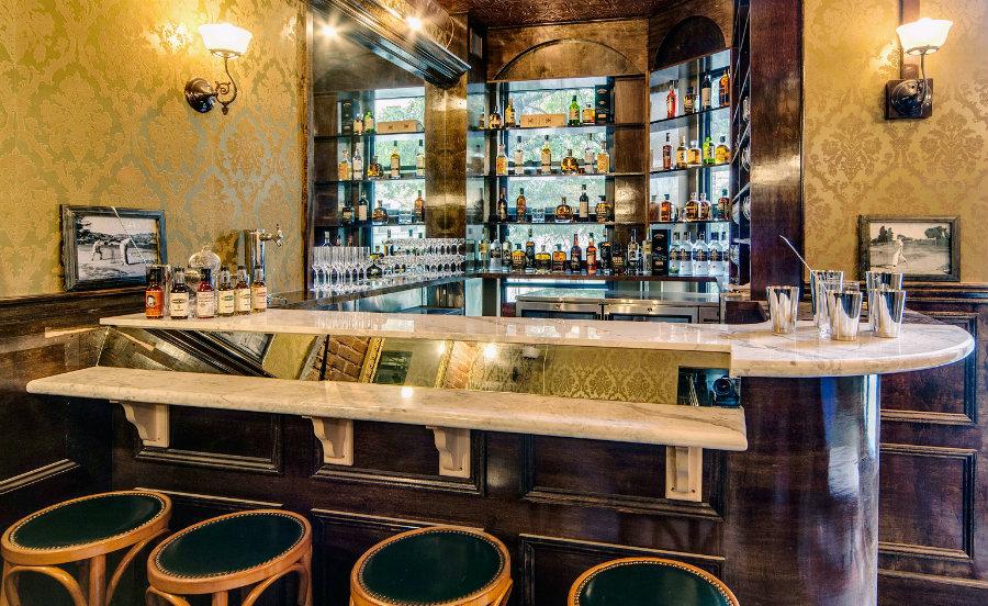 Manhattan Cricket Club bar stools without backs