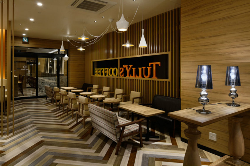 Tullys Coffee interior design concept