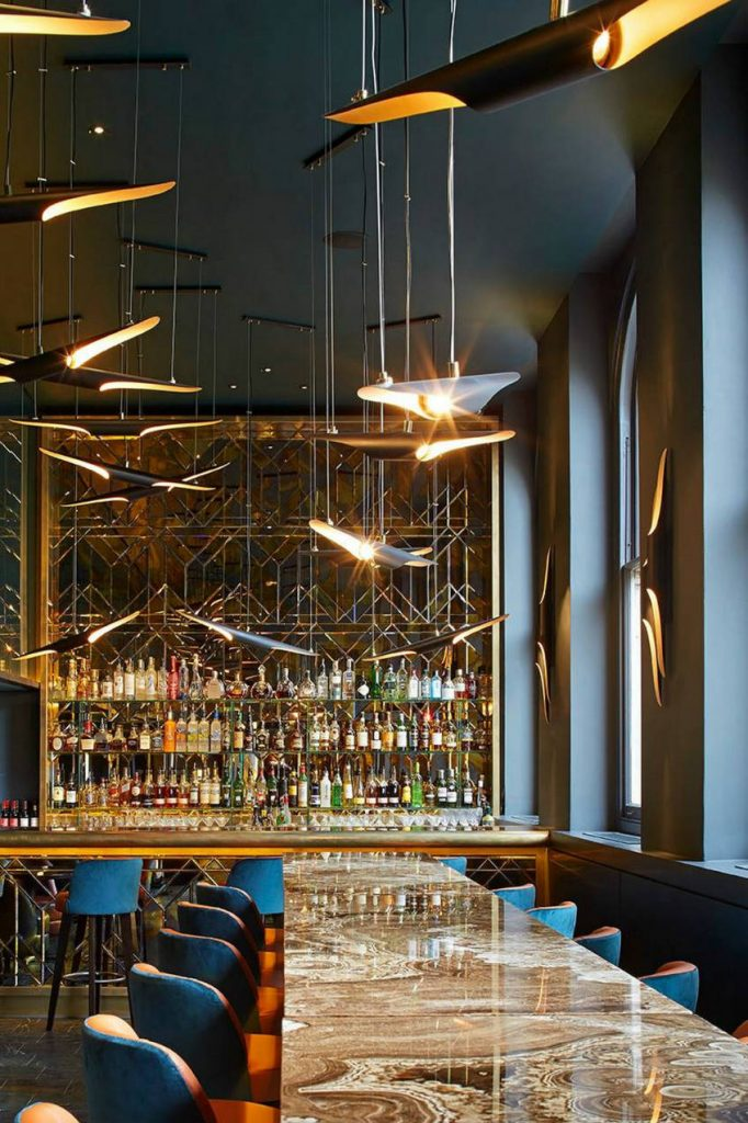 Midcentury bar lighting ideas