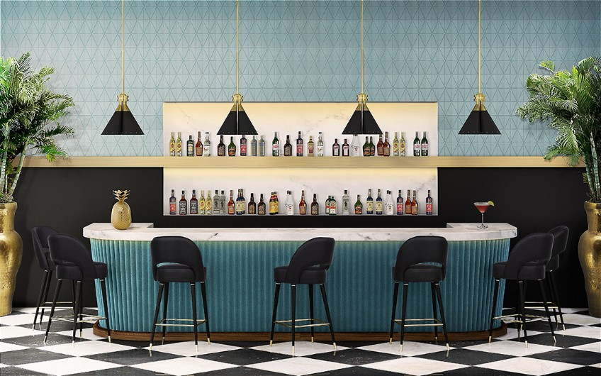Collins Bar Chairs - Bar Decor Inspiration Ideas