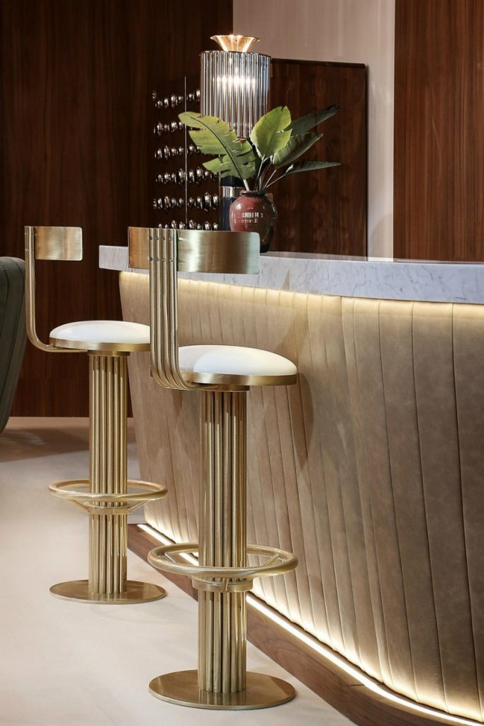 Kelly Bar Chair - Hotel Bar Decor Inspiration